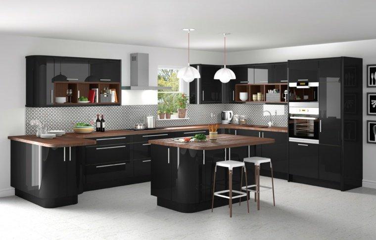Plan de travail cuisine noir - Maison François Fabie