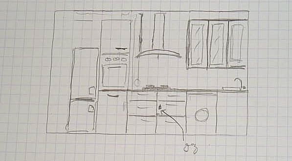 dessiner un plan de cuisine maison fran ois fabie. Black Bedroom Furniture Sets. Home Design Ideas