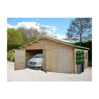 garage en bois 30m2 maison fran ois fabie. Black Bedroom Furniture Sets. Home Design Ideas