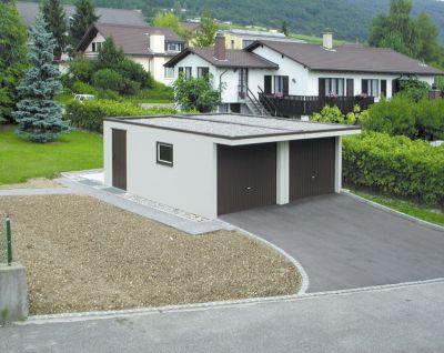 garage toit plat prefabrique maison fran ois fabie. Black Bedroom Furniture Sets. Home Design Ideas