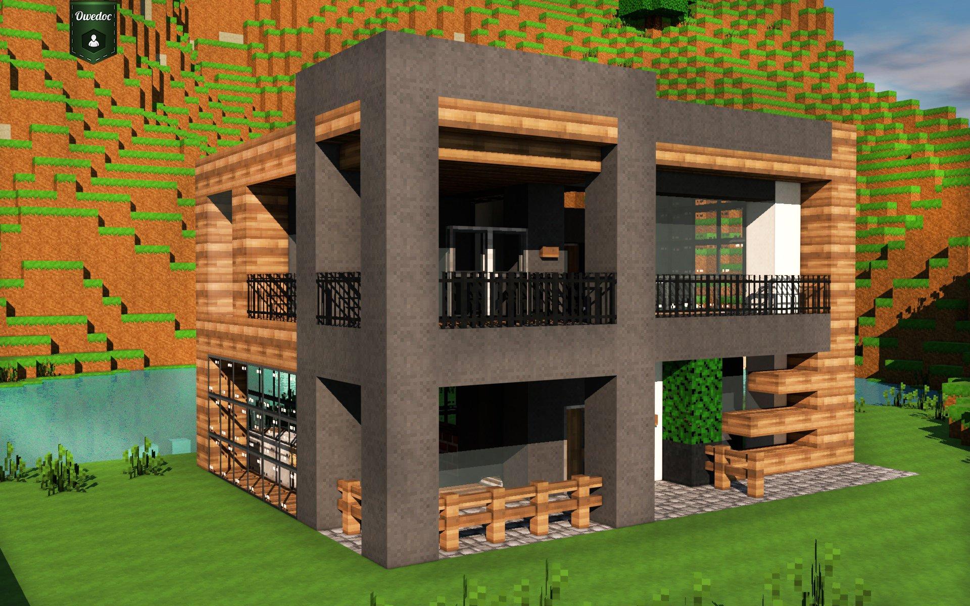 Maison moderne sur minecraft maison fran ois fabie for Minecraft maison moderne xroach