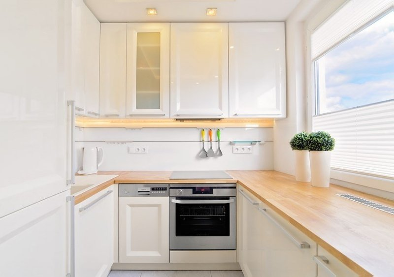 Plan de travail cuisine en bois - Maison François Fabie