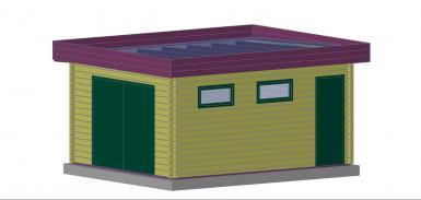 garage bois toit plat 20m2 - Construire Un Garage En Bois 20m2