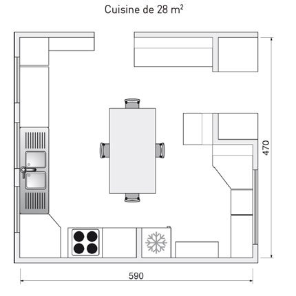 dessiner plan cuisine maison fran ois fabie. Black Bedroom Furniture Sets. Home Design Ideas