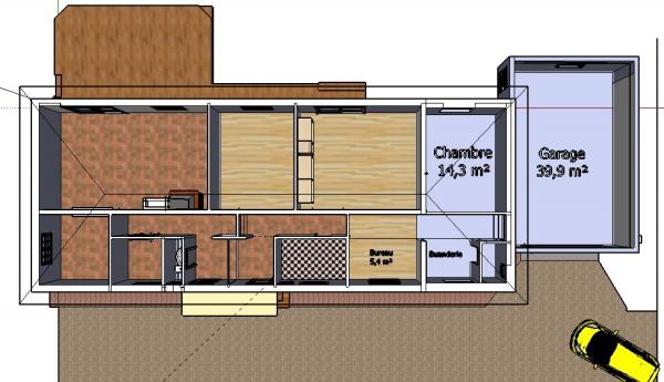 construire garage attenant maison maison fran ois fabie. Black Bedroom Furniture Sets. Home Design Ideas