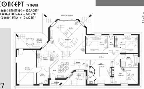 plan construction maison maison fran ois fabie. Black Bedroom Furniture Sets. Home Design Ideas