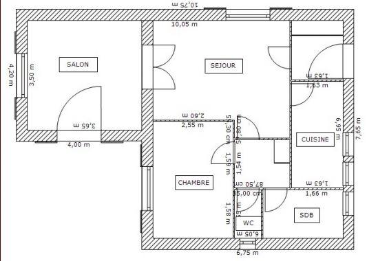 Plan architectural de maison maison fran ois fabie - Plan de masse d une maison ...