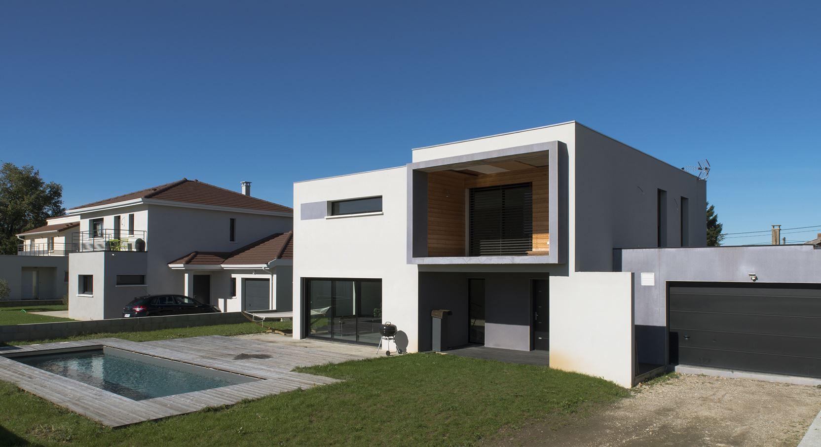 Maison contemporaine architecte maison fran ois fabie for Nom d architecte