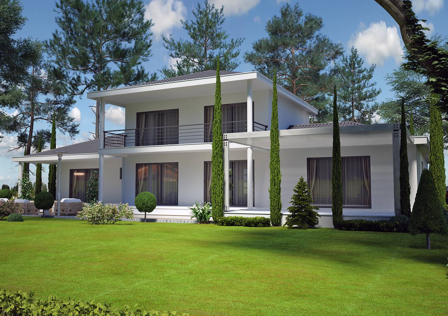 modele de maison moderne a etage maison fran ois fabie. Black Bedroom Furniture Sets. Home Design Ideas
