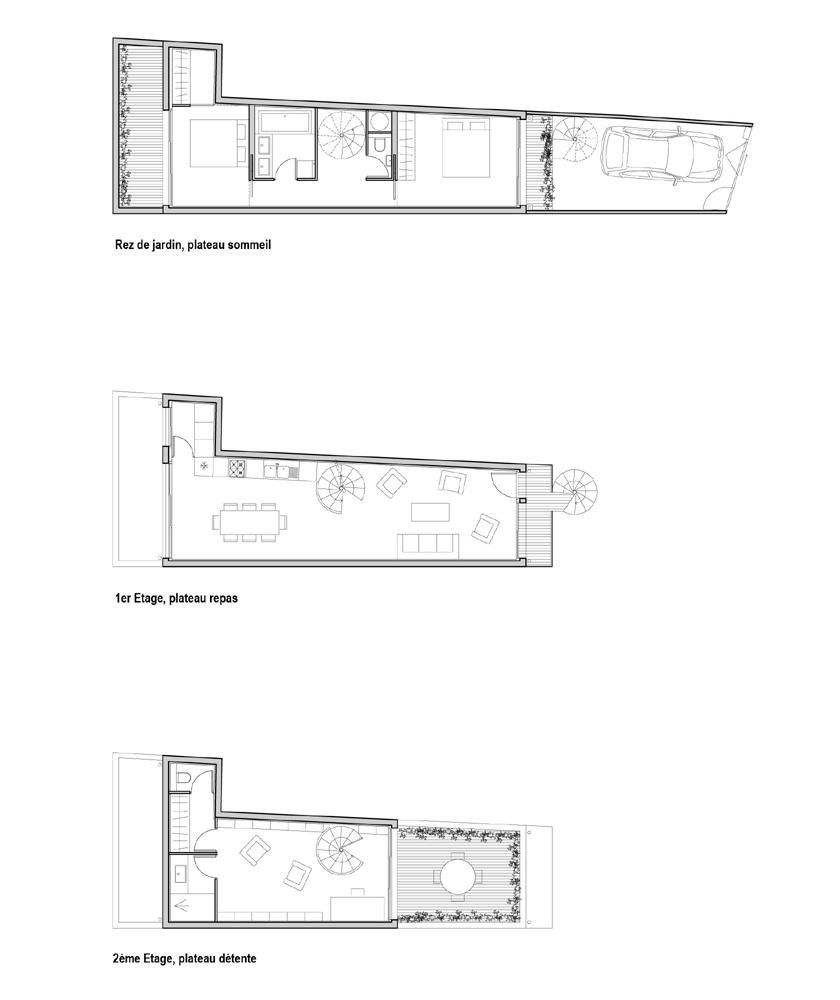 plan maison petit terrain maison fran ois fabie. Black Bedroom Furniture Sets. Home Design Ideas