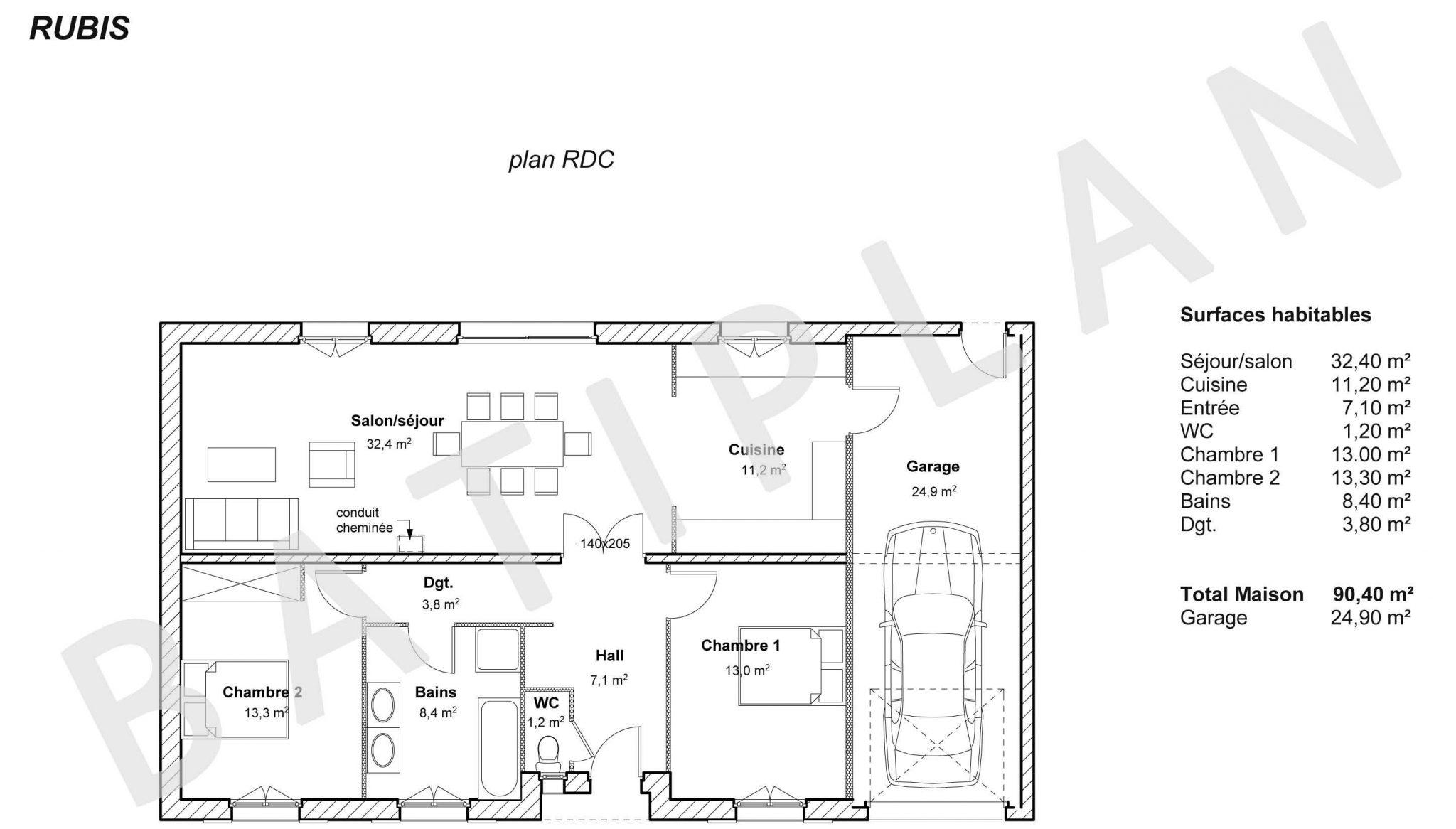 faire son plan de garage maison fran ois fabie. Black Bedroom Furniture Sets. Home Design Ideas