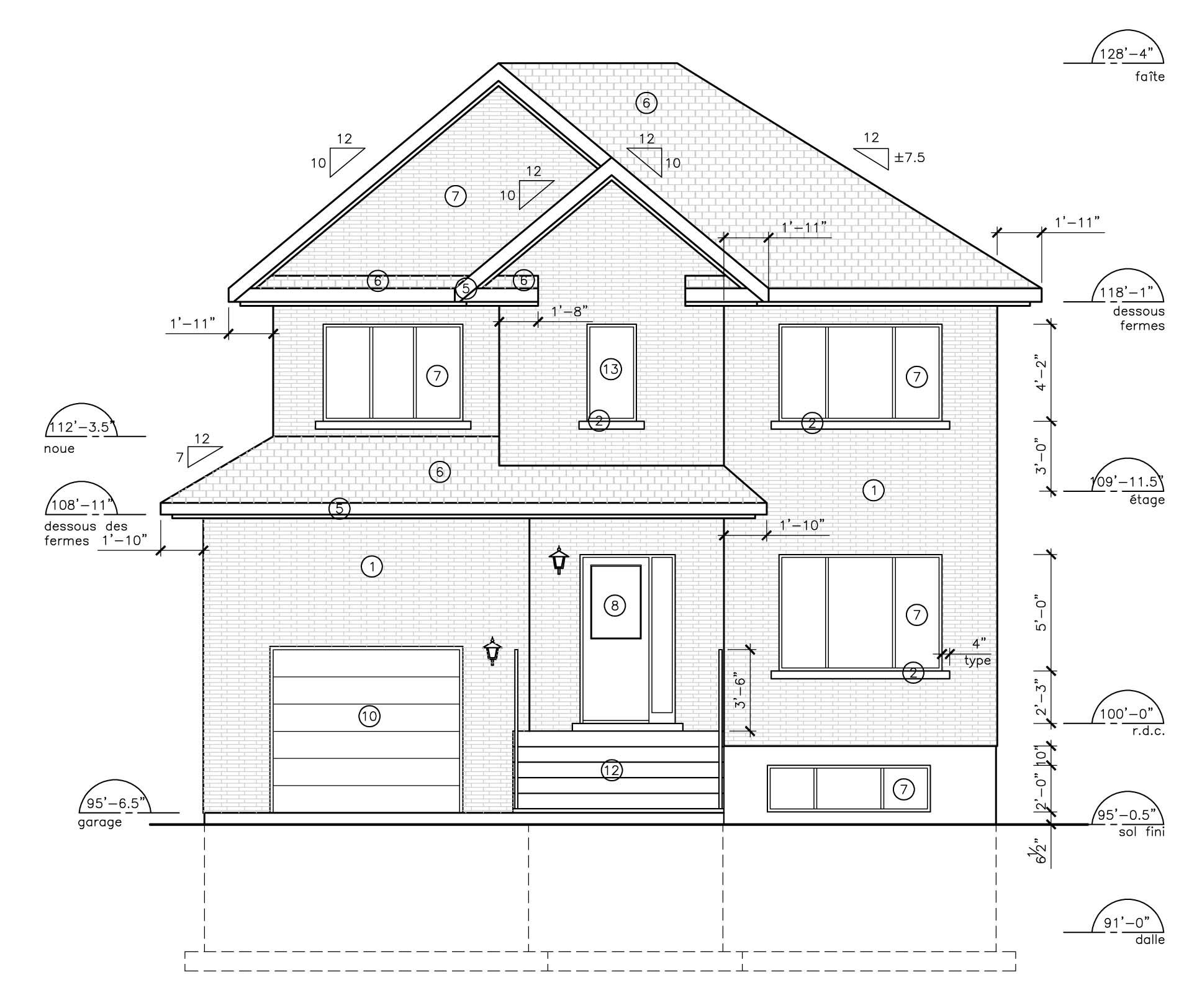 Architecture plan de maison - Maison François Fabie