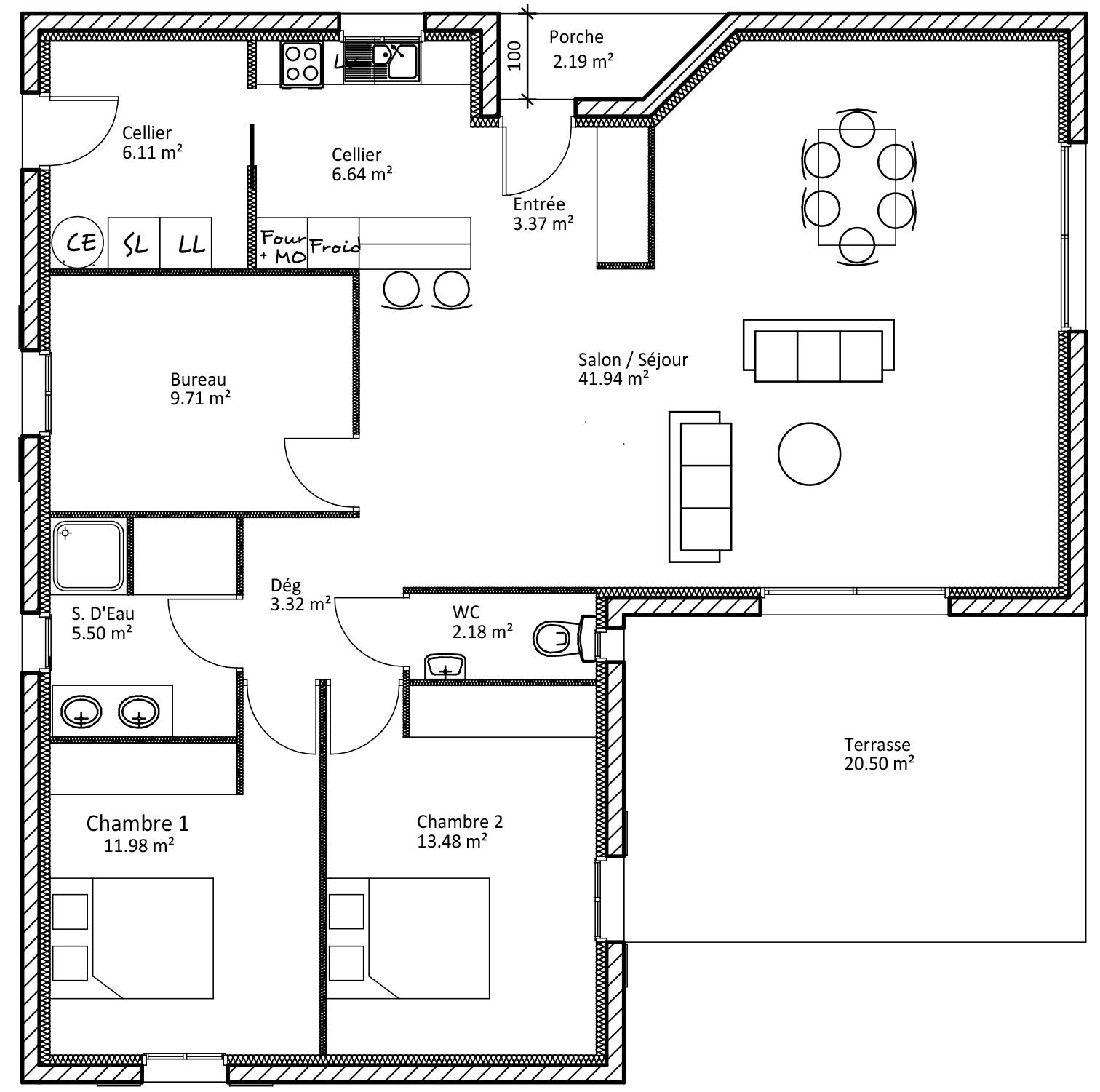 Le plan d une maison - Maison François Fabie