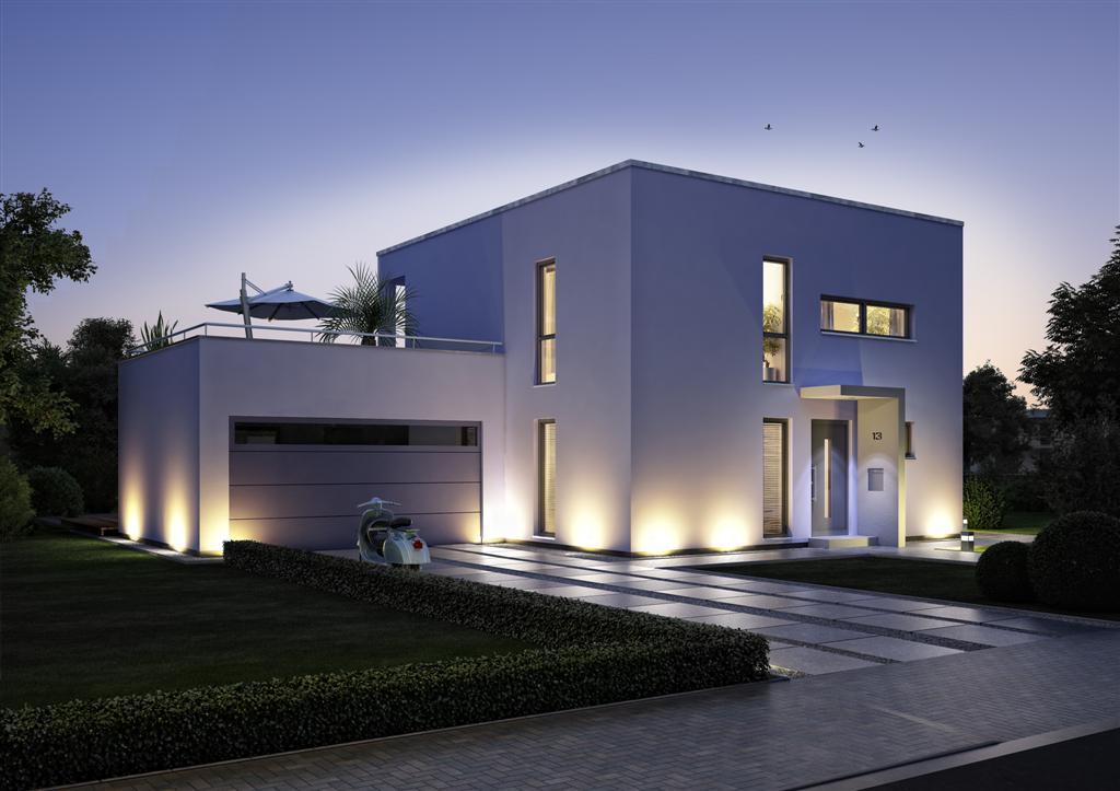 Maison cube contemporaine maison fran ois fabie for Maison moderne noir