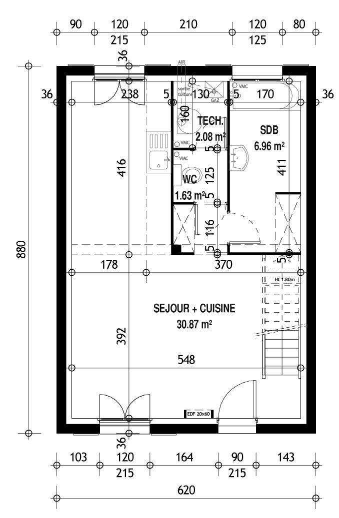 maison pierre modele orleans maison fran ois fabie. Black Bedroom Furniture Sets. Home Design Ideas