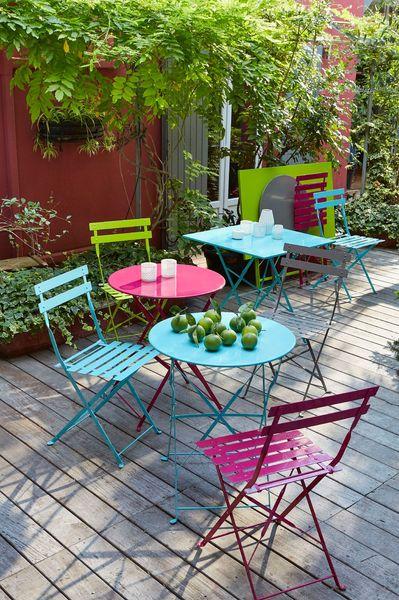 Salon jardin metal couleur - Maison François Fabie