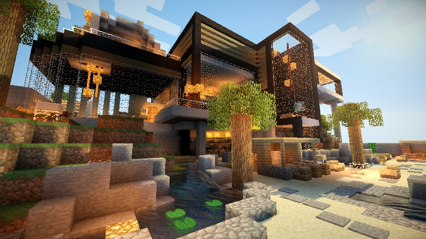 Stunning maison moderne de luxe minecraft pictures awesome