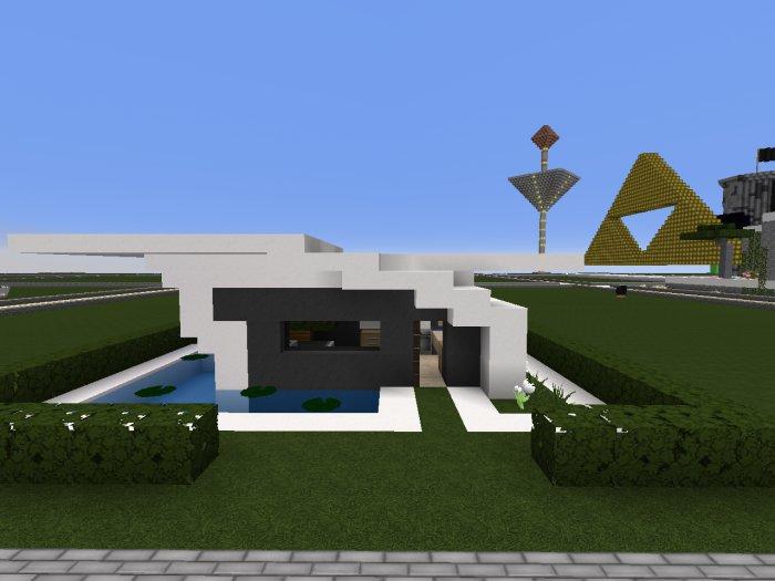 Minecraft petite maison moderne maison fran ois fabie for Petite maison luxueuse