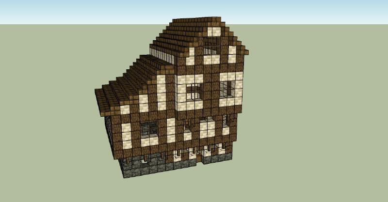 minecraft maison moyen age avie home. Black Bedroom Furniture Sets. Home Design Ideas