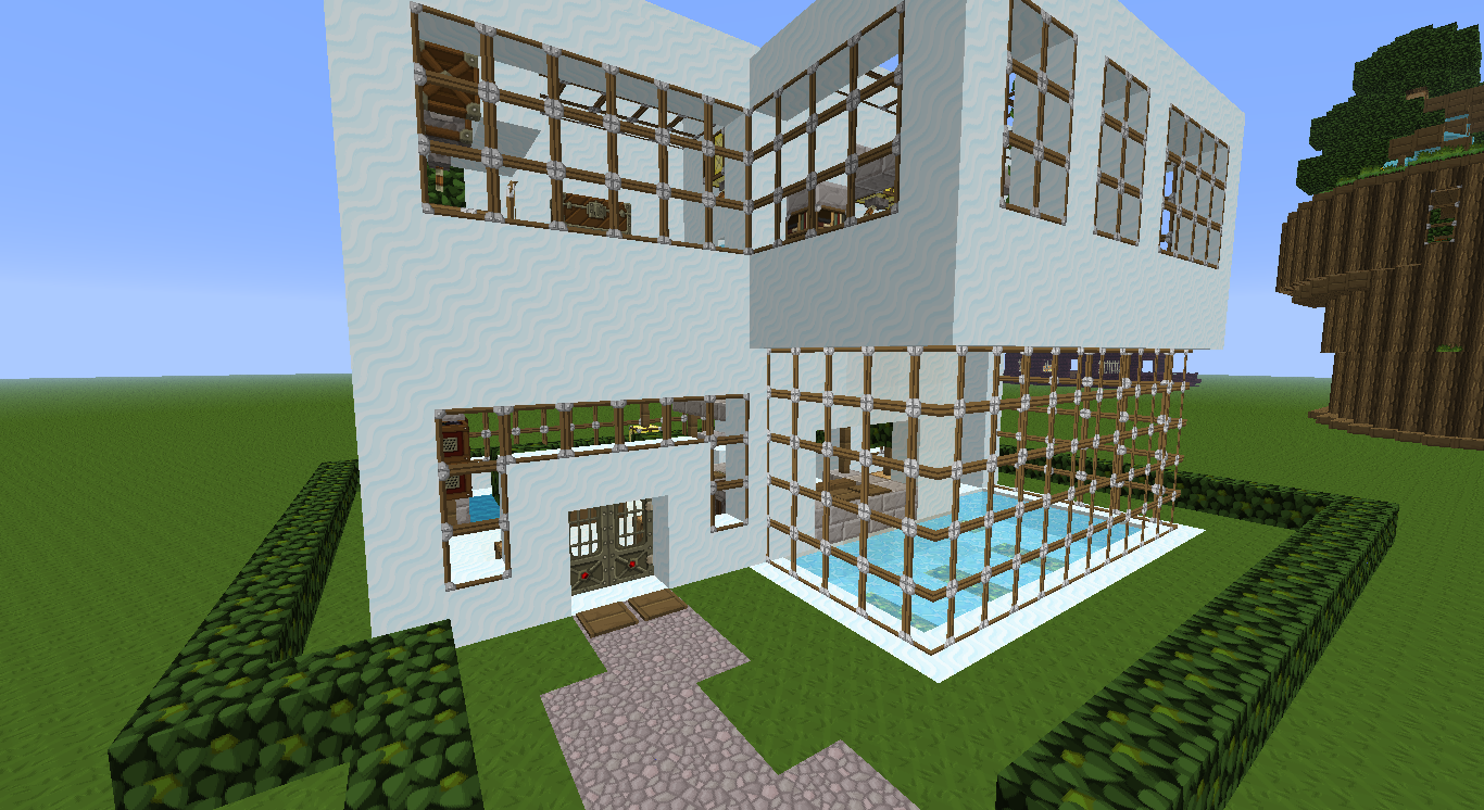 Petite maison minecraft moderne maison fran ois fabie for Minecraft belle maison moderne