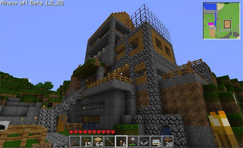minecraft maison montagne avie home
