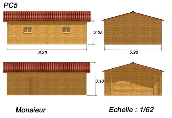 Plan garage bois gratuit maison fran ois fabie for Permis de construire pour garage en bois